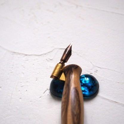 Krasopěrátko modré s perem