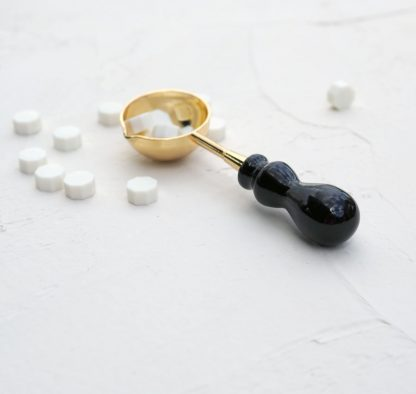 Lžička na vosk černá