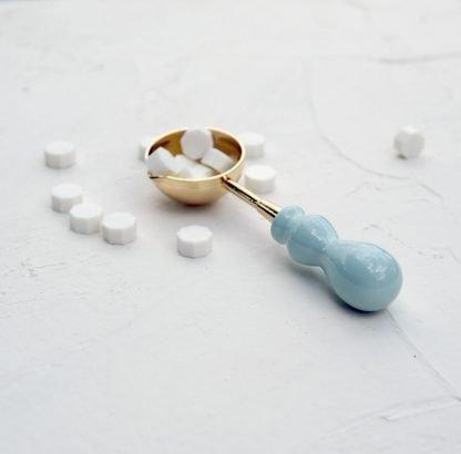 Lžička na vosk baby blue