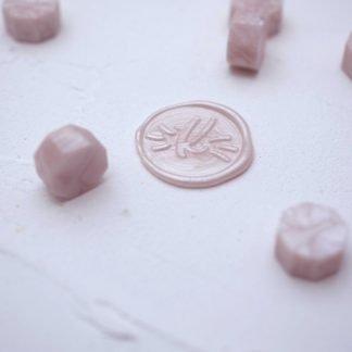 Pečetní vosk - peletky - růžová perla