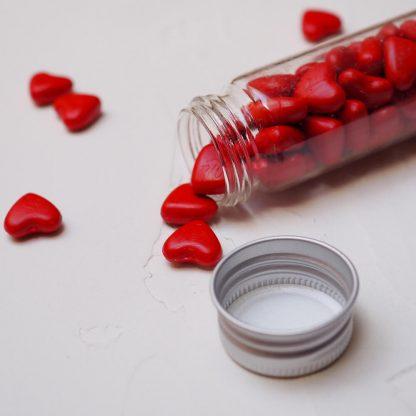 Červená srdce detail