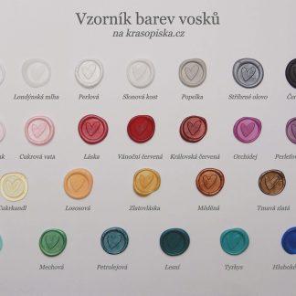 Vzorník barev vosků